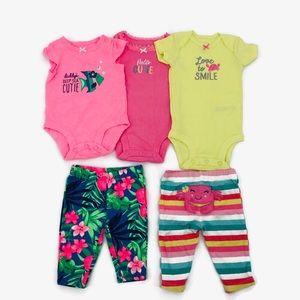 Carters Newborn Matching Outfits EUC